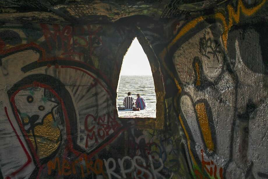 A view of the bay from inside the Castle, a piece of conceptual art that was built by an Albany Bulb resident. Photo: Sam Wolson, Special To The Chronicle