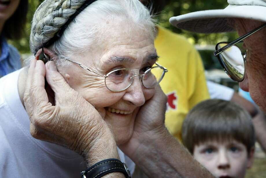 They must have a really small stethoscope:Ruby Spivey listens to the heartbeat of a 