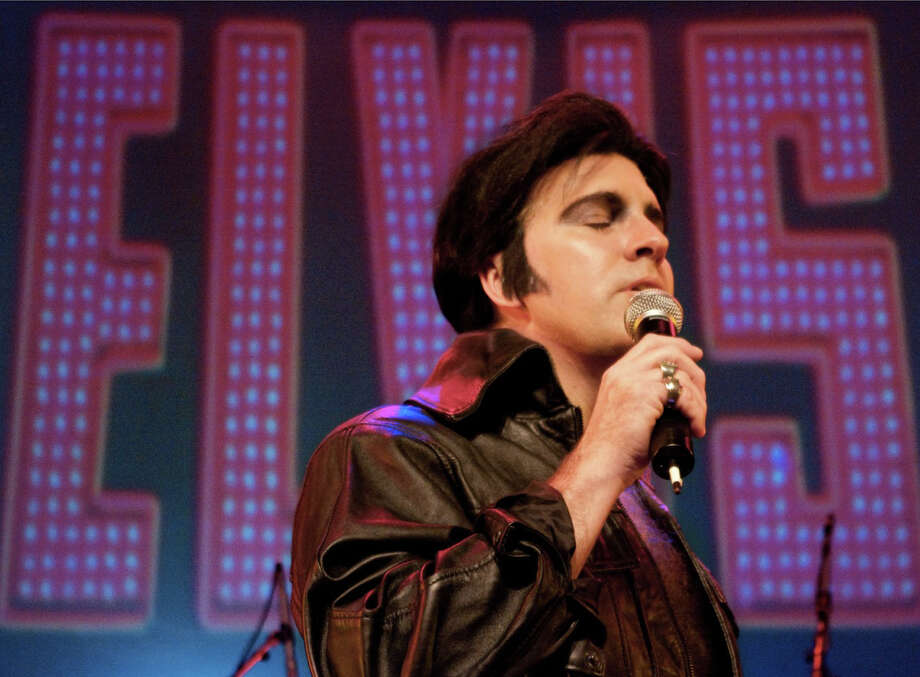 Mike Mahoney performs as Elvis Presley. He will perform at The Palace in Danbury on Saturday, Sept. 21, as part of a tribute to Elvis and The Beatles. Photo: Contributed Photo