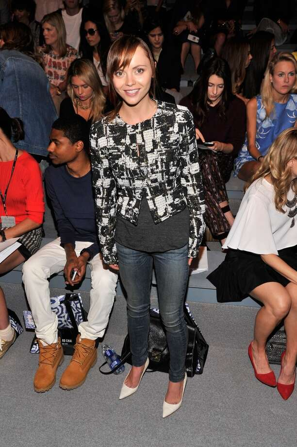 Christina Ricci attends the Richard Chai Spring 2014 fashion show during Mercedes-Benz Fashion Week at The Stage at Lincoln Center on September 5, 2013 in New York City. Photo: Stephen Lovekin, Getty Images For Mercedes-Benz Fashion Week