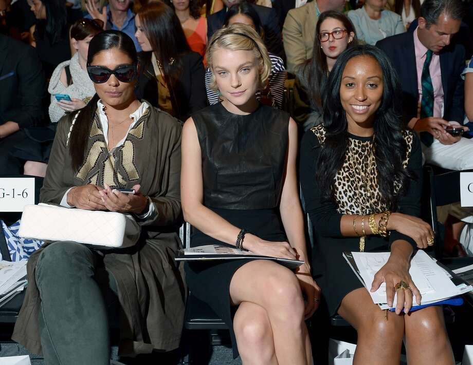 Rachel Roy, Jessica Stam and Shiona Turini attend the Supima Spring 2014 fashion show during Mercedes-Benz Fashion Week at The Studio at Lincoln Center on September 5, 2013 in New York City. Photo: Michael Loccisano, Getty Images For Mercedes-Benz Fashion Week