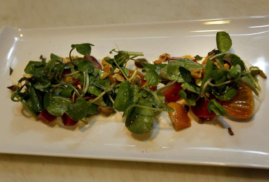 Beets with watercress. Photo: Brant Ward, The Chronicle