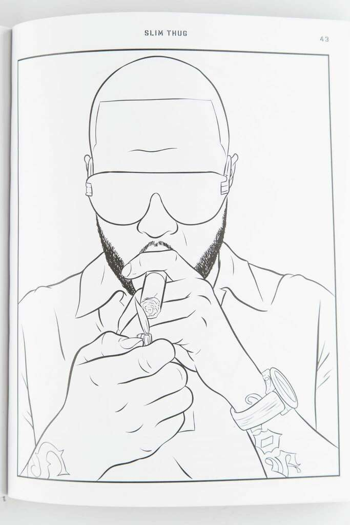 houston rapper bun b lends his name knowledge and his face to bun bs - Rap Coloring Book