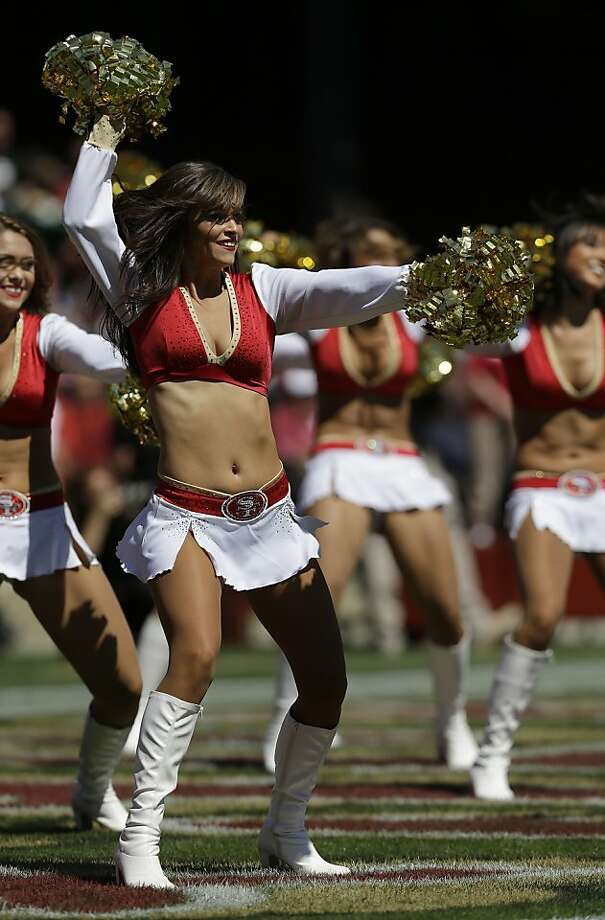 The Gold Rush cheerleaders perform as the San Francisco 49ers faced the Green Bay Packers on Sept. 8, 2013. (AP Photo/Marcio Jose Sanchez) Photo: Marcio Jose Sanchez, Associated Press