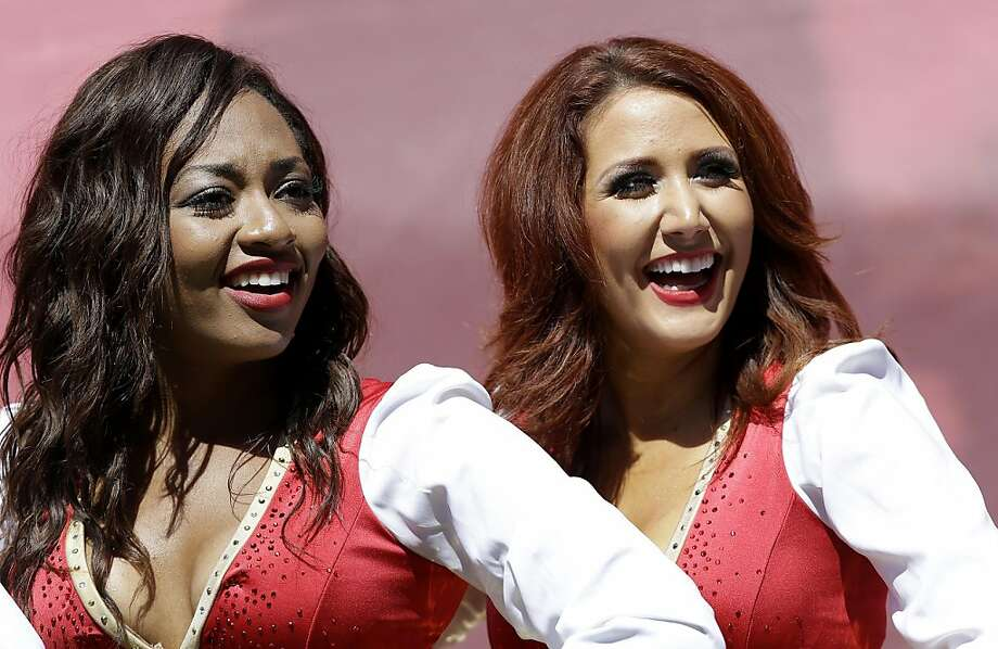 San Francisco 49ers Gold Rush cheerleaders perform before the game against the Green Bay Packers on Sept. 8, 2013. (AP Photo/Marcio Jose Sanchez) Photo: Marcio Jose Sanchez, Associated Press