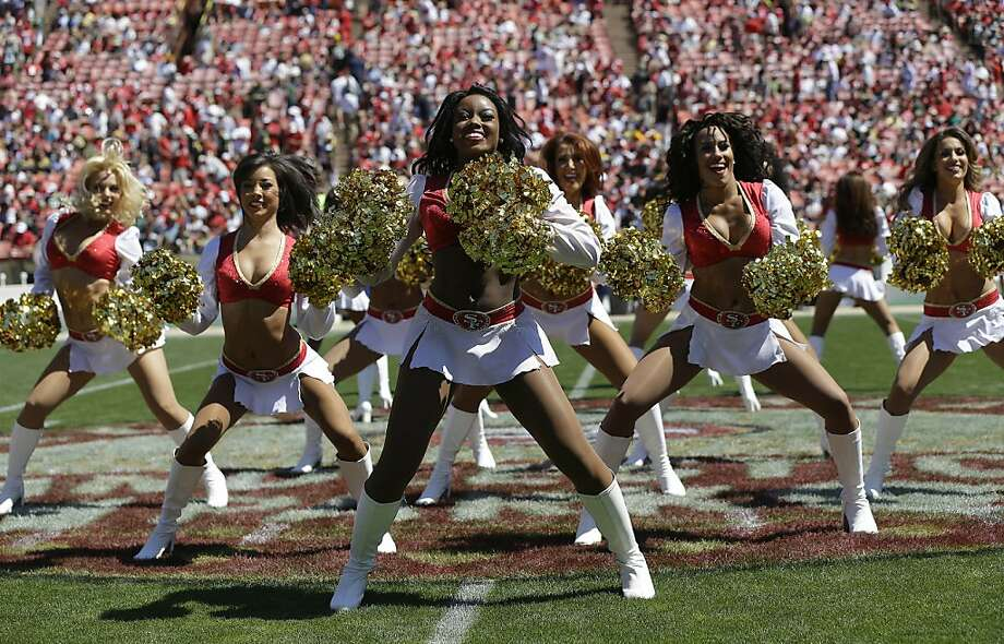 San Francisco 49ers cheerleaders perform before an NFL football game against the Green Bay Packers in San Francisco, Sunday, Sept. 8, 2013. (AP Photo/Marcio Jose Sanchez) Photo: Marcio Jose Sanchez, Associated Press