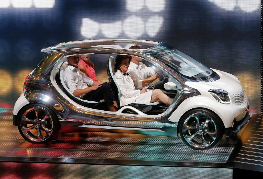 "The Smart ""fourjoy"" concept car is presented during the Mercedes-Benz/ Smart Media Night the 65th Frankfurt Auto Show in Frankfurt, Germany, Monday, Sept. 9, 2013.  Photo: AP"