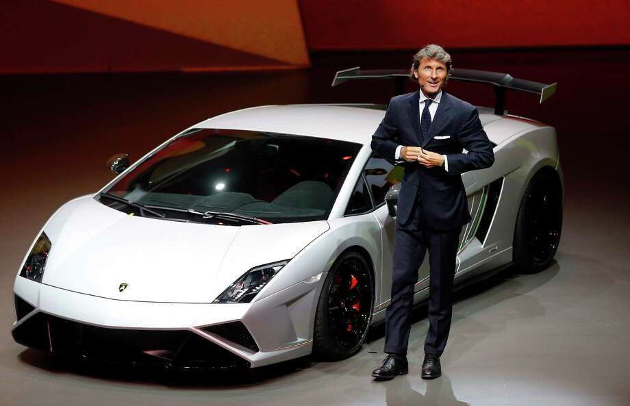 Stephan Winkelmann, CEO of Lamborghini, introduces the new Squadra Course during a preview by the Volkswagen Group prior to the 65th Frankfurt Auto Show in Frankfurt, Germany, Monday, Sept. 9, 2013. Photo: AP