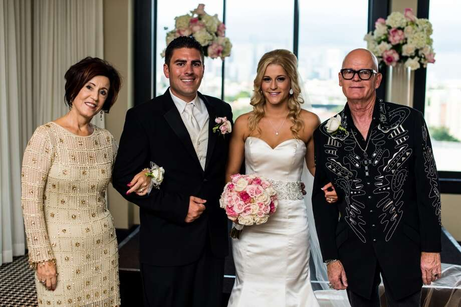 Katy Perry's parents, Mary and Keith Hudson, are Pentecostal ministers. They were in Houston to officiate the wedding of Brian and Ashlee Leaumont at Hotel Zaza. Photo: Fernando Weberich