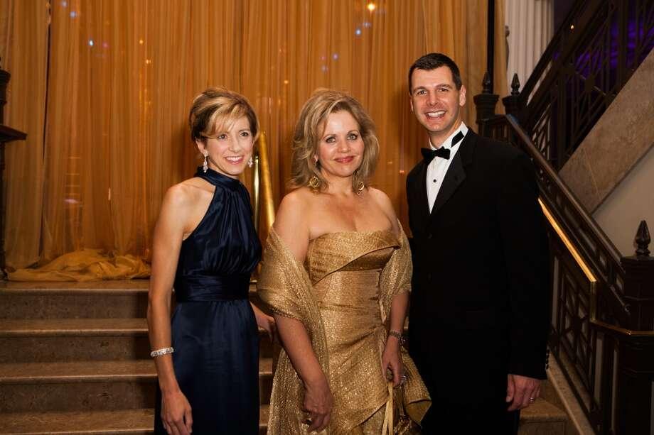 Christina Hanson, Renee Fleming and Mark Hanson Photo: Michael Starghill, Jr.
