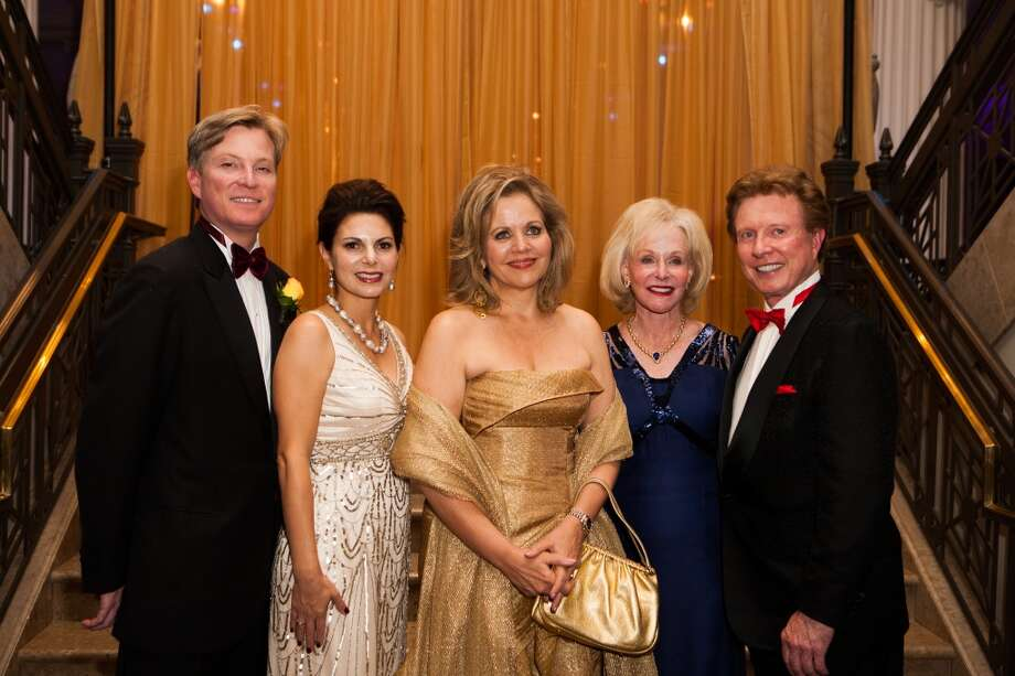 Paul and Kathy Mann, Renee Fleming and Carolyn and Mike Mann Photo: Michael Starghill, Jr.