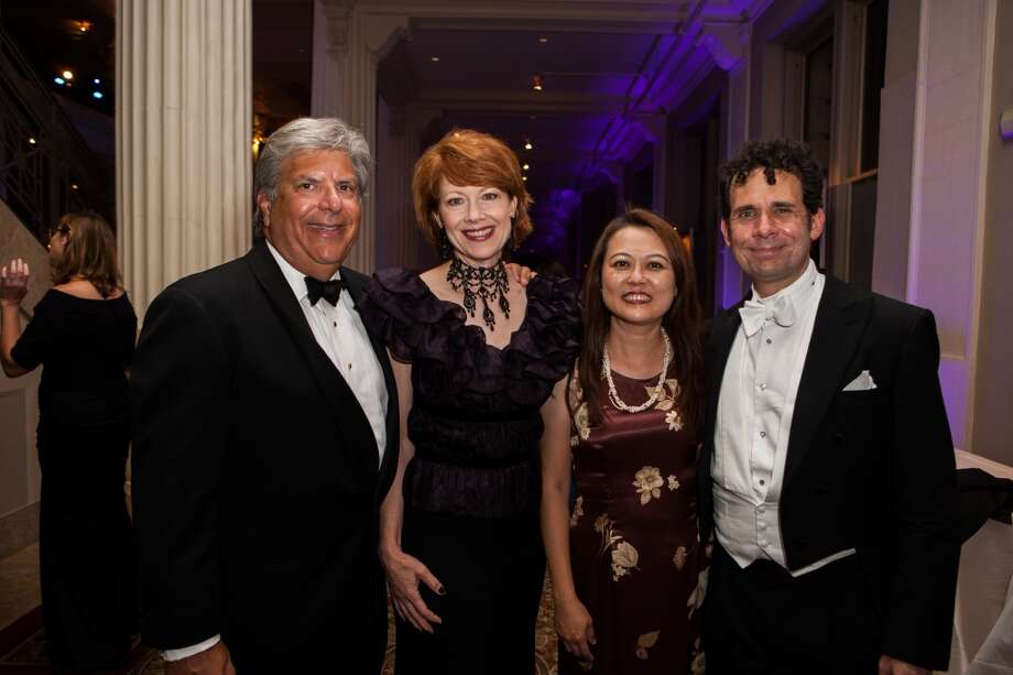 Tom and April Lykos with Evelyn Chen and Brinton Smith Photo: Michael Starghill, Jr.