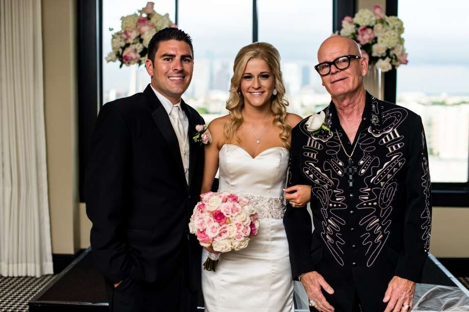 Brian and Ashlee Leaumont with Keith Hudson. Photo: Fernando Weberich