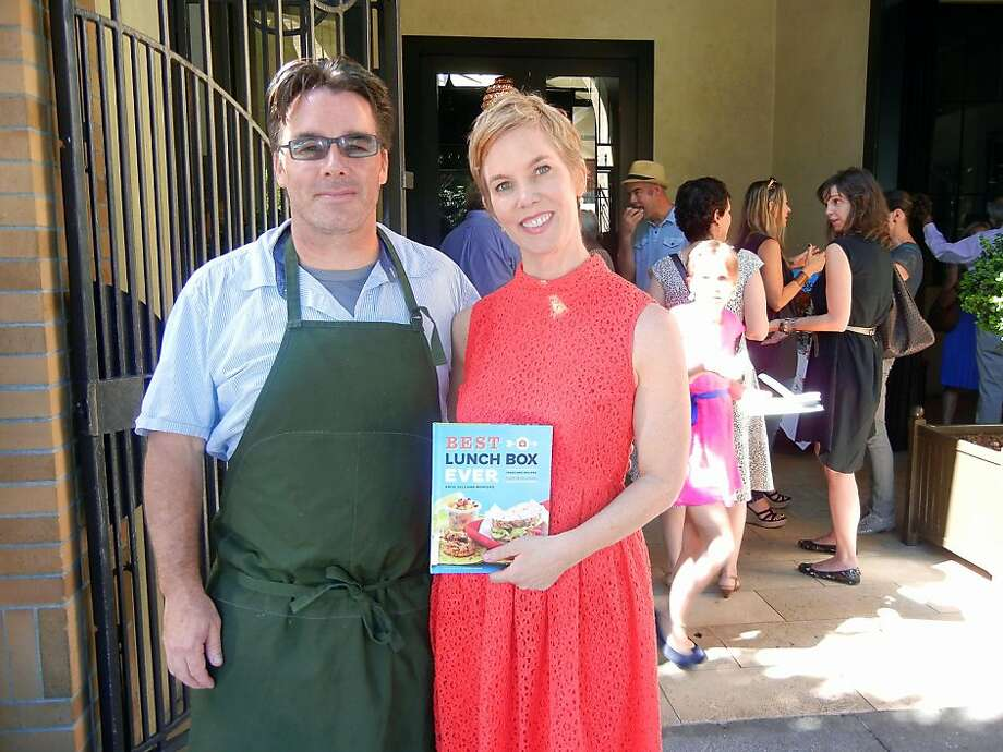 Chef Mark Sullivan and his sister, author Katie Sullivan Morford, at her Best Lunch Box Ever reception. Photo: Catherine Bigelow, Special To The Chronicle