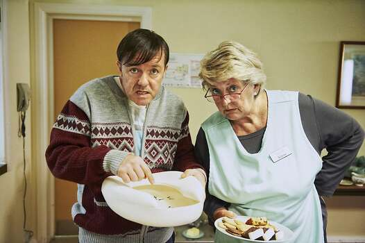 """Derek: Season 2"" – Ricky Gervais created and stars in this heartwarming comedy-drama as Derek, a loyal nursing home caretaker who sees only the good in his quirky co-workers as they struggle against prejudice and shrinking budgets to care for their elderly residents. Available Now!Related: Check out the full list of Netflix Original Series available to stream Photo: Ray Burmiston, Netflix"