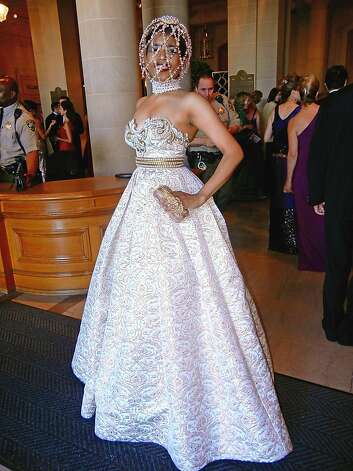Sept. 6: Venture capitalist Deepa Pakianathan causes a local stir at the San Francisco Opera's opening-night gala by wearing an Alexander McQueen caged headpiece. Fashion insiders scoff that it was designed as a runway art piece, but McQueen designer Sarah Burton e-mails Pakianathan a note of congrats for wearing it well. Photo: Catherine Bigelow, Special To The Chronicle