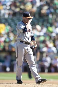 Sept. 8: A's 7, Astros 2  Lucas Harrell got the surprise start, but the A's didn't care who was pitching as they roughed him up for seven runs in the third inning.  Record: 47-96. Photo: Jason O. Watson, Getty Images