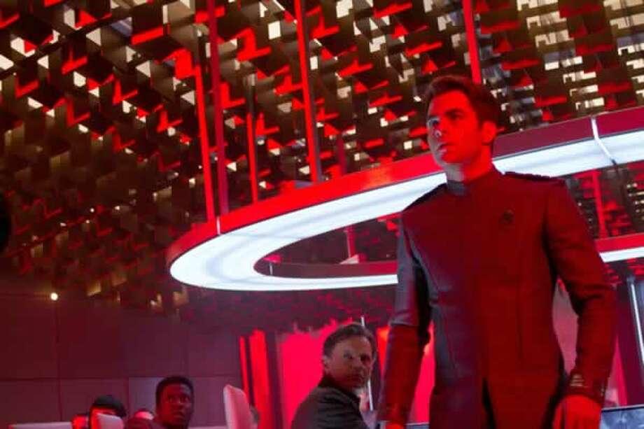 Kirk (Chris Pine) at Starfleet Headquarters. Photo: Paramount Pictures, 2013