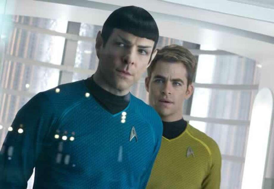 Spock (Zachary Quinto) and Kirk (Chris Pine). Photo: Paramount Pictures, 2013