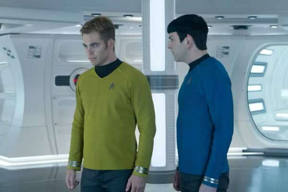 Kirk (Chris Pine) and Spock (Zachary Quinto) contemplate if Khan is manipulating them. Photo: Paramount Pictures, 2013