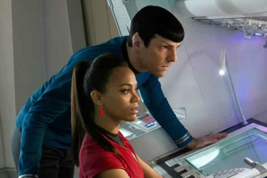 Spock (Zachary Quinto) and Uhura (Zoë Saldana). Photo: Paramount Pictures, 2013