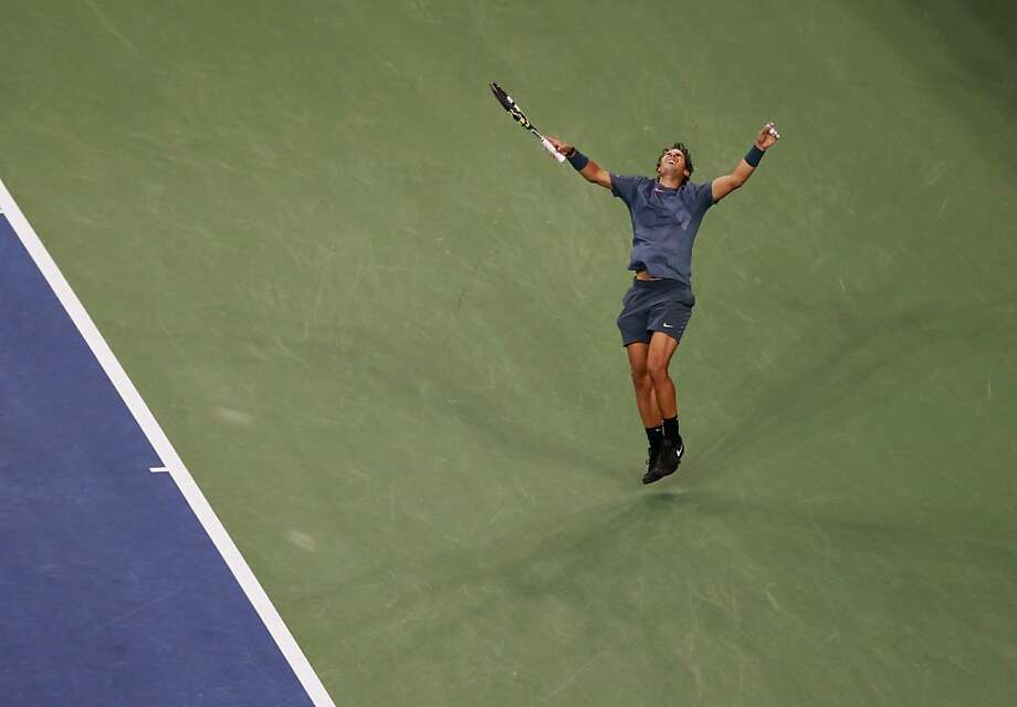 NEW YORK, NY - SEPTEMBER 09:  Rafael Nadal of Spain celebrates winning the men's singles final match against Novak Djokovic of Serbia on Day Fifteen of the 2013 US Open at the USTA Billie Jean King National Tennis Center on September 9, 2013 in the Flushing neighborhood of the Queens borough of New York City.  (Photo by Jaime L. Mikle/Getty Images for the USTA) Photo: Jaime L. Mikle, Getty Images For The USTA