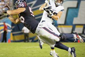 Linebacker Brian Cushing (56) says the Texans' defense needs more big plays - like his interception of San Diego quarterback Philip Rivers in the season opener.