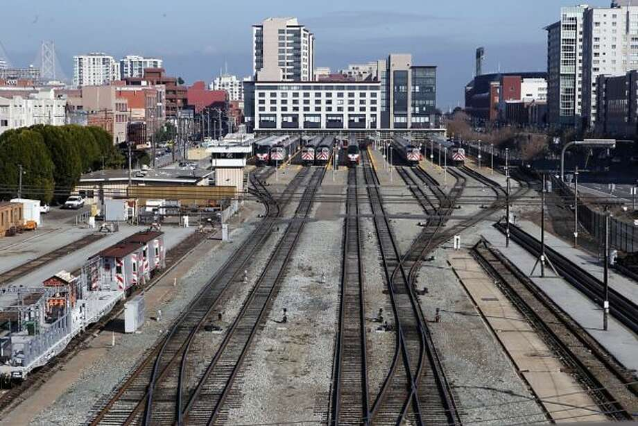 This rather stark train yard has disappeared from the area in the new designs. Photo: Jessica Olthof, The Chronicle