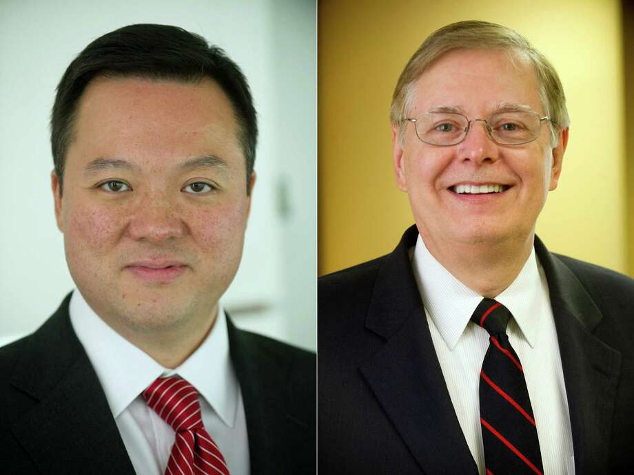 Stamford mayoral candidates State Rep. William Tong, and Board of Finance member David Martin. Photo: Lindsay Perry, File / Stamford Advocate