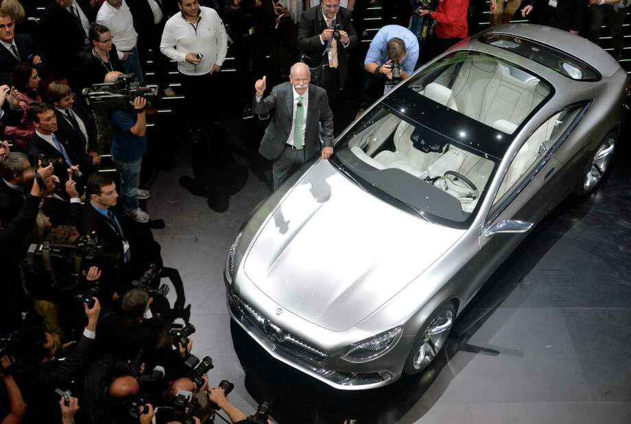 Chairman of the board of german auto giant Daimler AG Dieter Zetsche presents the new Mercedes S-Class Coupe concept car at the IAA international automobile show in Frankfurt, Germany. The world's largest motor show, the IAA, is held biennially and will run from September 12 to 22, 2013.  More than 1.000 exhibitors from 35 countries will present their products during the show. Photo: Thomas Lohnes, Getty Images / 2013 Getty Images