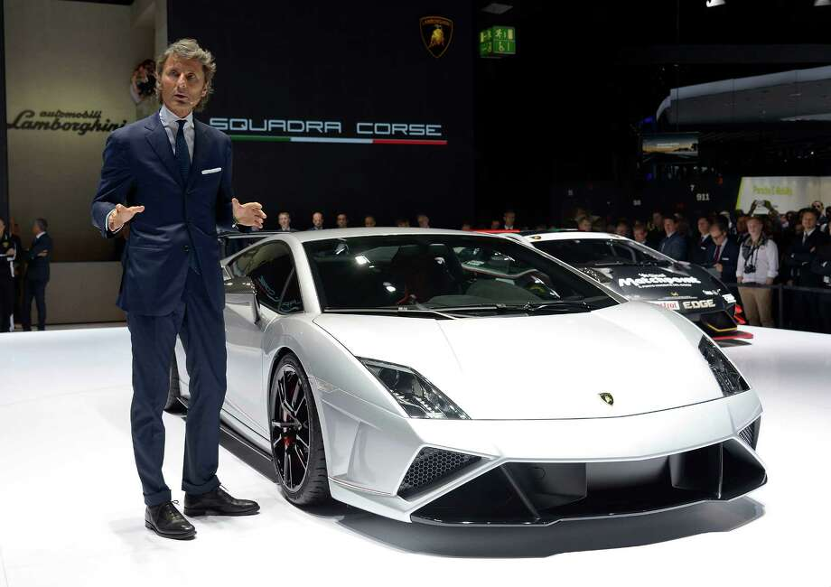 Stephan Winkelmann, president of Lamborghini present the new model Squadra Corse during the press day at the international motor show IAA (Internationale Automobil-Ausstellung) in Frankfurt. The world's biggest motor show, the IAA, is running from September 12 to 22, 2013 Photo: Thorsten Wagner, Bongarts/Getty Images / 2013 Thorsten Wagner