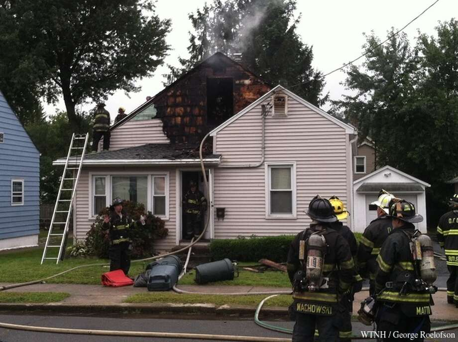 One person was injured when fire broke out in a Park Avenue house in Derby on Tuesday, Sept. 10, 2013. The cause of the fire is under investigation. Photo: WTNH
