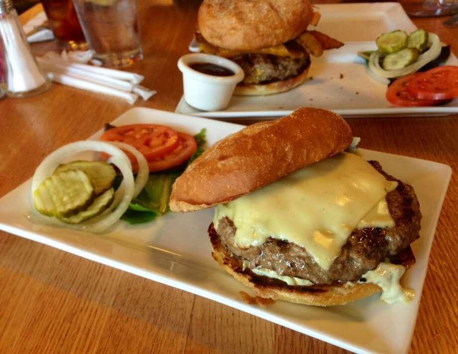Green chile cheeseburger at Five Star Burger