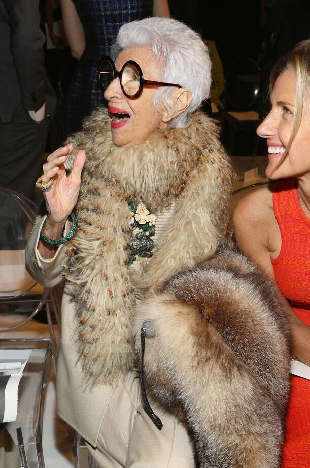 NEW YORK, NY - SEPTEMBER 08:  Iris Apfel attends the Ralph Rucci fashion show during Mercedes-Benz Fashion Week Spring 2014 at The Theatre at Lincoln Center on September 8, 2013 in New York City.  (Photo by Astrid Stawiarz/Getty Images for Mercedes-Benz Fashion Week Spring 2014) Photo: Astrid Stawiarz, Getty Images