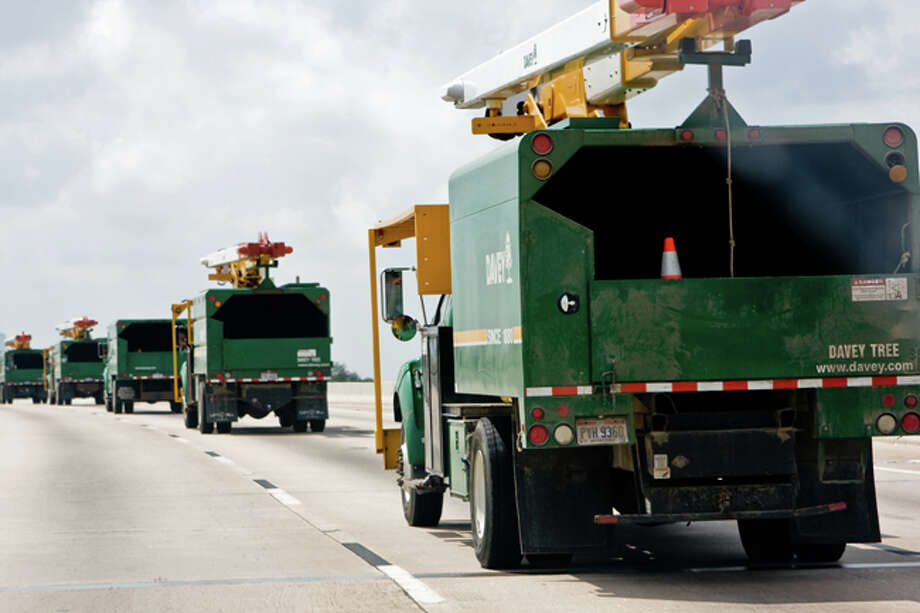 Davey Tree sent hundreds of crews and trucks to help clean up vegetation in the wake of Hurricane Ike. Photo: Jennifer Lennox, The Davey Tree Expert Company
