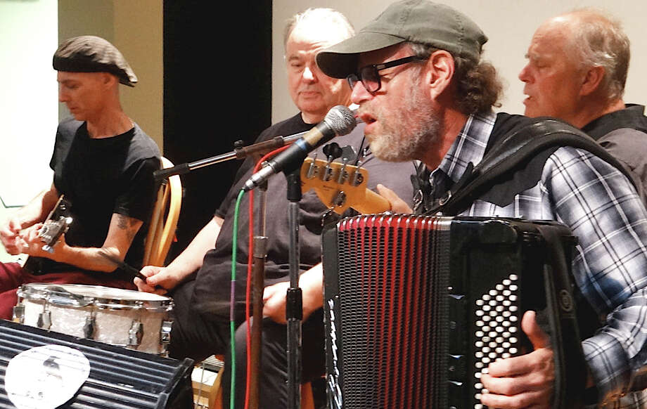 Professor Louie & the Crowmatix performing a free concert of blues and Americana music Sunday at the Westport Library. Photo: Mike Lauterborn / Westport News contributed