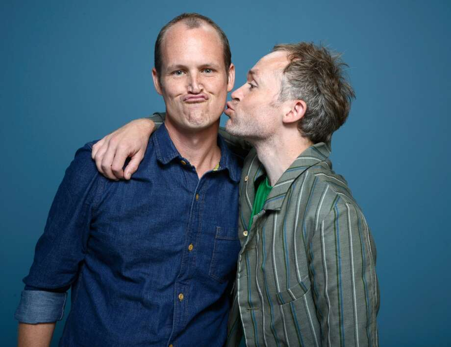 Directors Ben Russell and Ben Rivers of 'A Spell To Ward Off The Darkness' pose at the Guess Portrait Studio during 2013 Toronto International Film Festival on September 9, 2013 in Toronto, Canada. Photo: Larry Busacca, Getty Images