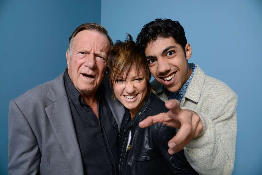 (L-R) Executive Producer Jack Thompson, director Sarah Spillane and actor Hunter Page-Lochard of 'Around The Block' pose at the Guess Portrait Studio during 2013 Toronto International Film Festival on September 6, 2013 in Toronto, Canada. Photo: Larry Busacca, Getty Images
