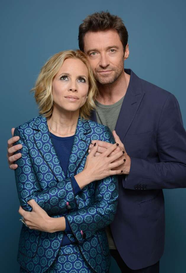 Actress Maria Bello and actor Hugh Jackman of 'Prisoners' pose at the Guess Portrait Studio during 2013 Toronto International Film Festival on September 7, 2013 in Toronto, Canada. Photo: Larry Busacca, Getty Images