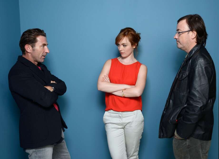 (L-R) Actor Antonio de la Torre, actress Olimpia Melinte and director Manuel Martín Cuenca of 'Cannibal' pose at the Guess Portrait Studio during 2013 Toronto International Film Festival on September 7, 2013 in Toronto, Canada. Photo: Larry Busacca, Getty Images