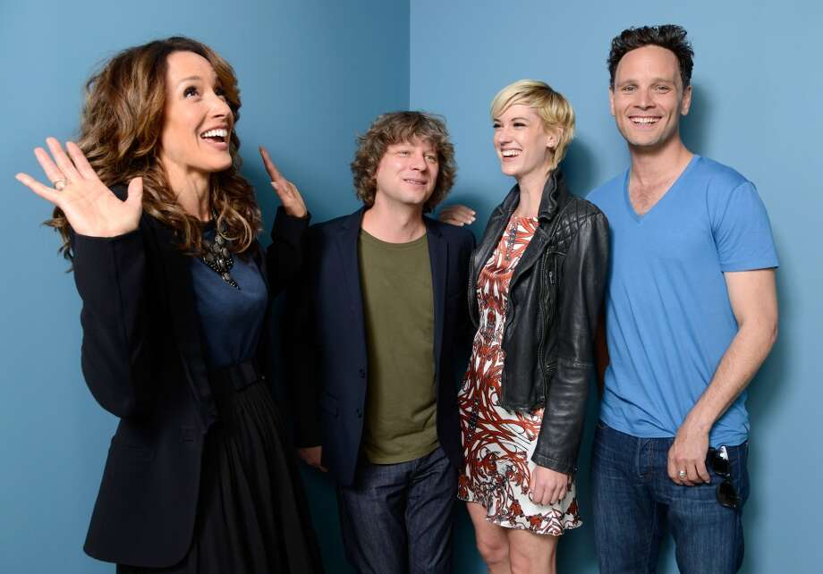 Actress/Executive Producer Jennifer Beals, director Terry Miles, actress Lauren Lee Smith and actor Ben Cotton of 'Cinemanovels' pose at the Guess Portrait Studio during 2013 Toronto International Film Festival on September 6, 2013 in Toronto, Canada. Photo: Larry Busacca, Getty Images