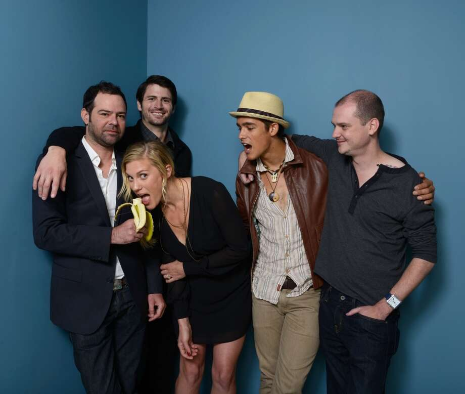 (L-R) Actor Rory Cochrane, actor James Lafferty, actress Katee Sackhoff, actor Brenton Thwaites and director Mike Flanagan of 'Oculus' pose at the Guess Portrait Studio during 2013 Toronto International Film Festival on September 9, 2013 in Toronto, Canada. Photo: Larry Busacca, Getty Images