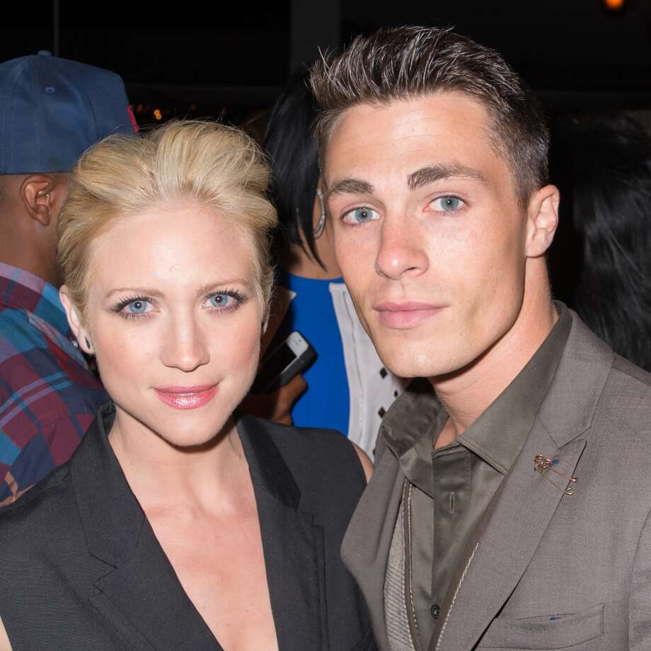Actors Brittany Snow (L) and Colton Haynes attend the Diane Von Furstenberg After Show Dinner at The Diller - Von Furstenberg Building on September 8, 2013 in New York City. Photo: Michael Stewart, Getty Images