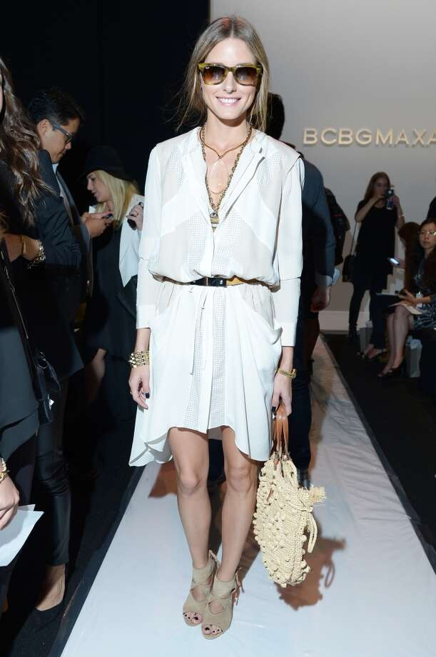 Olivia Palermo attends the BCBGMAXAZRIA Spring 2014 fashion show during Mercedes-Benz Fashion Week at The Theatre at Lincoln Center on September 5, 2013 in New York City. Photo: Michael Loccisano, Getty Images For Mercedes-Benz Fashion Week