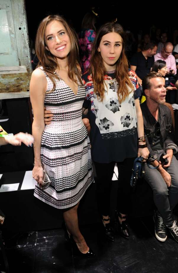 Allison Williams and Zosia Mamet attend the Prabal Gurung fashion show during Mercedes-Benz Fashion Week Spring 2014 at Skylight Studios at Moynihan Station on September 7, 2013 in New York City. Photo: Craig Barritt, Getty Images