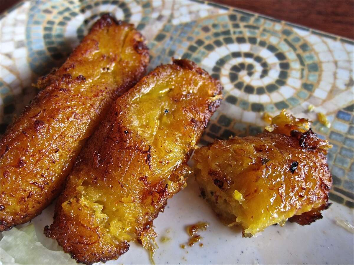 Fried sweet plantains at Pollo Bravo.