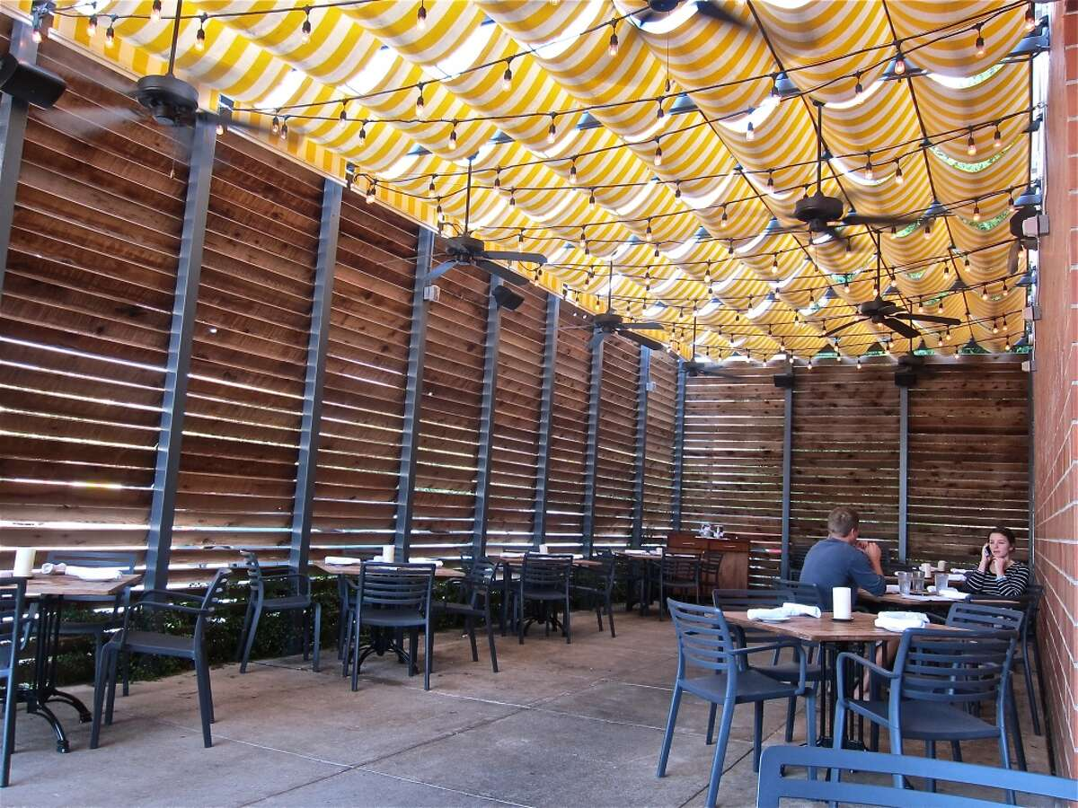 Covered dining terrace at Coppa.