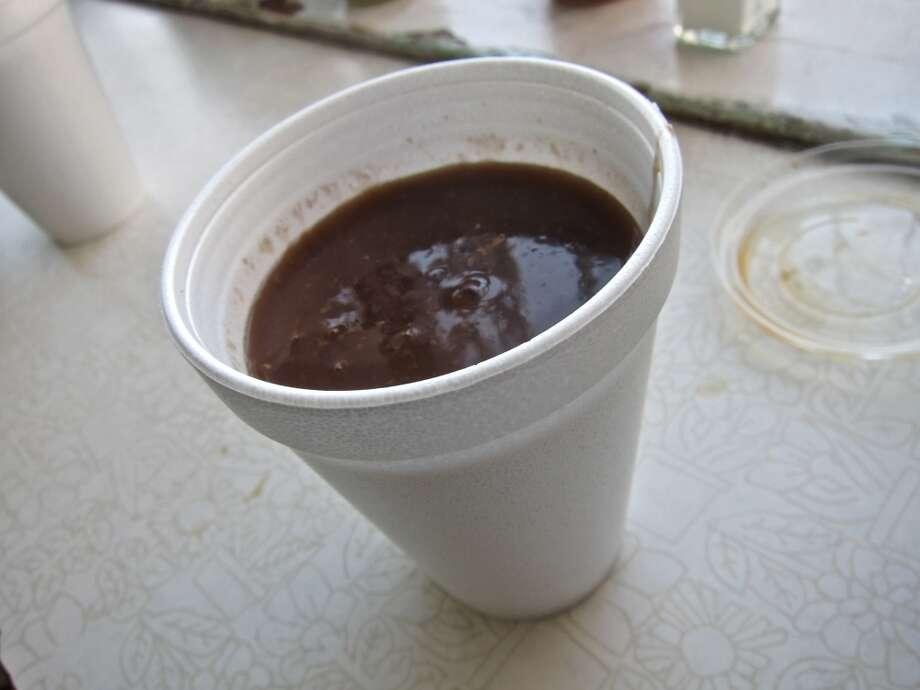 Champurrado beverage at La Azteca. Photo: Alison Cook