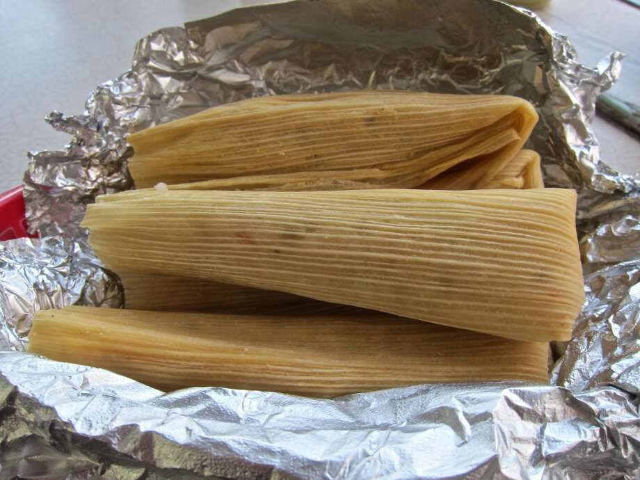 Tamales at La Azteca. Photo: Alison Cook