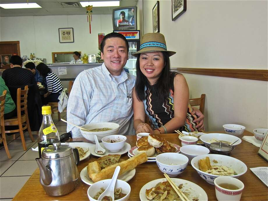 State representative Gene Wu and Channel 13 reporter Miya Shay at Classic Kitchen, one of their favorite breakfast spots. Photo: Alison Cook